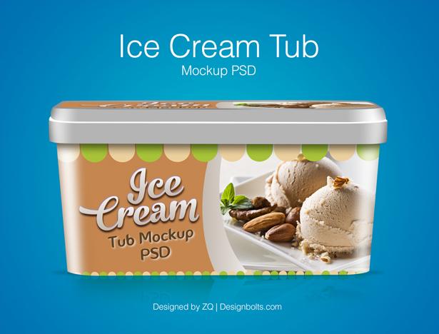 free ice cream tub packaging design