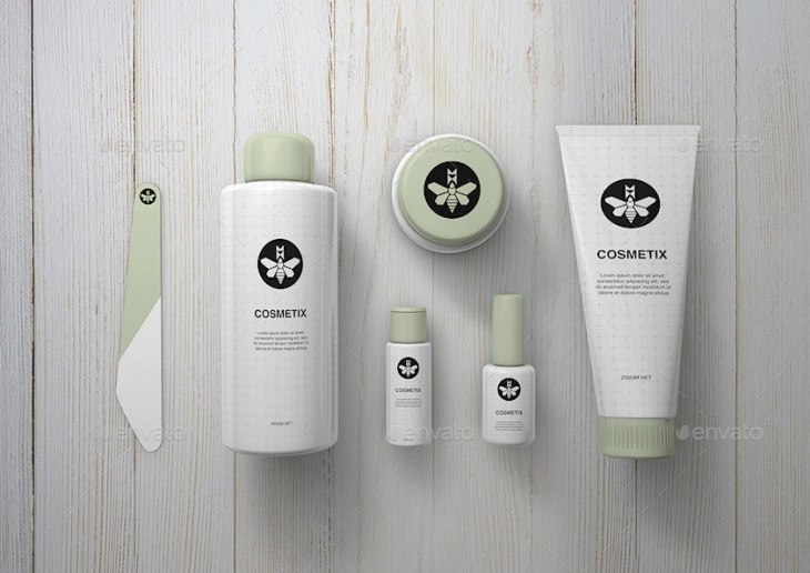 cosmetics toiletries mock up