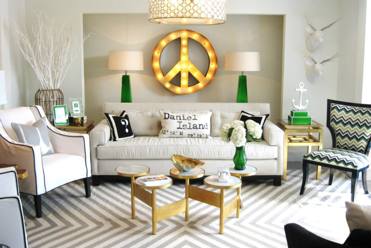Retro Living Room Decorating Idea