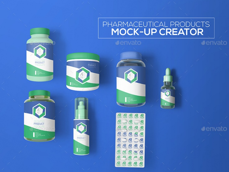 cosmetic pharmaceutical products mock up