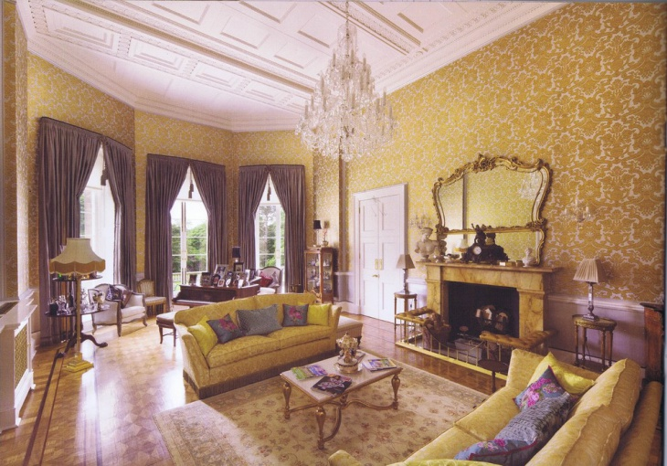 19 Purple And Gold Living Room Designs Decorating Ideas
