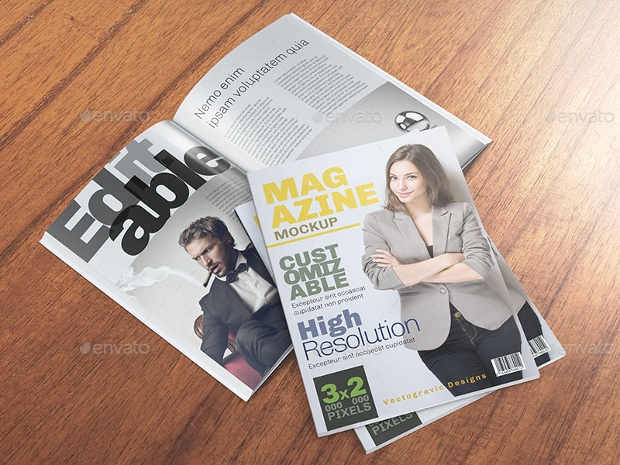 download magazine mockup