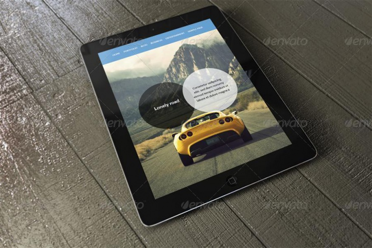 fully layered ipad mockup