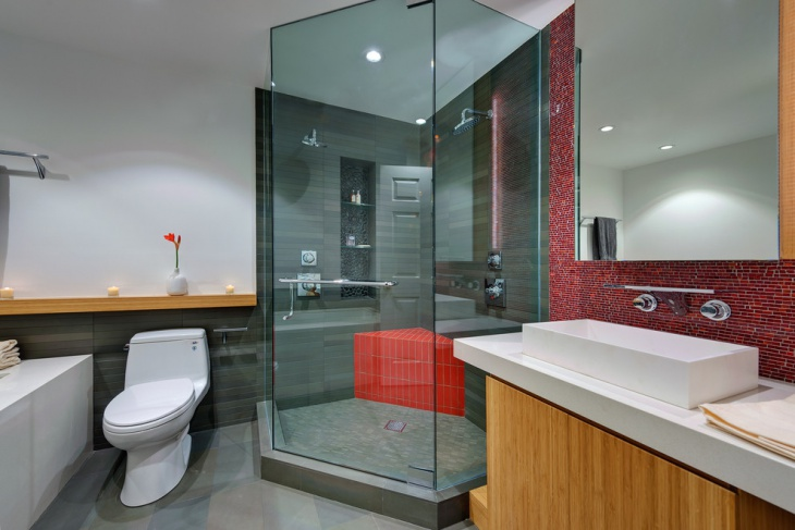 Bricks Modern Bathroom Design Idea