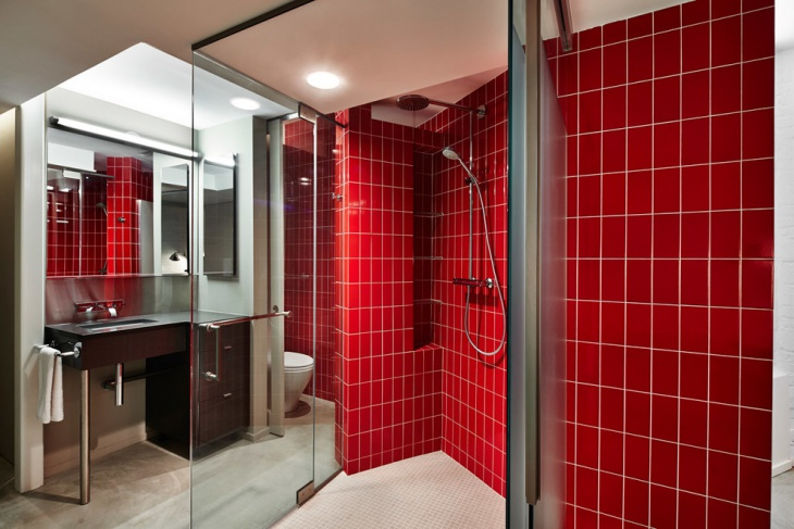 Glass Enclosed Shower Bathroom