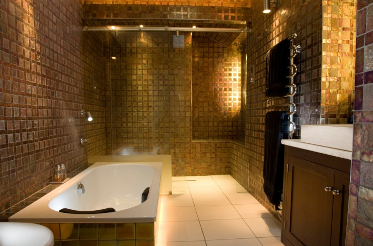 16 Gold Tile Bathroom Designs Decorating Ideas Design