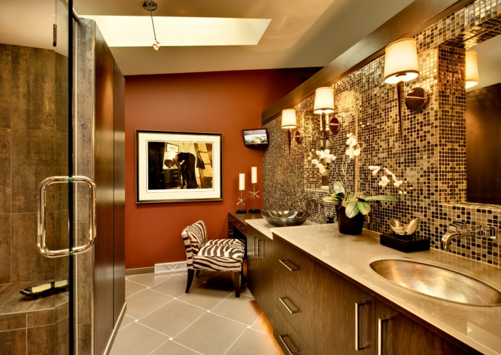 25 Best Ideas About Gold Bathroom Accessories On: 16+ Gold Tile Bathroom Designs, Decorating Ideas
