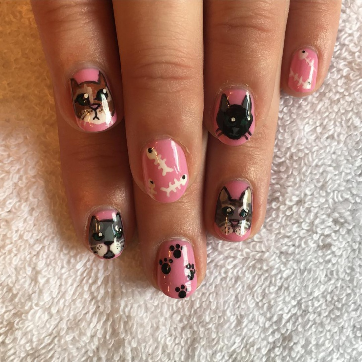 Cat Gel Nail Art
