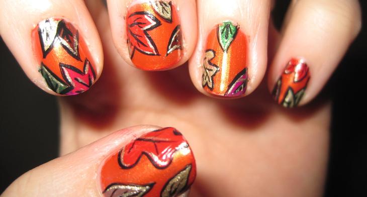 20 Autumn Nail Art Designs Ideas Design Trends Premium Psd