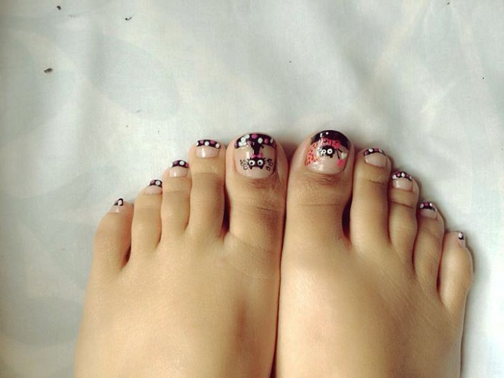 Awesome Toe Nail Art Idea