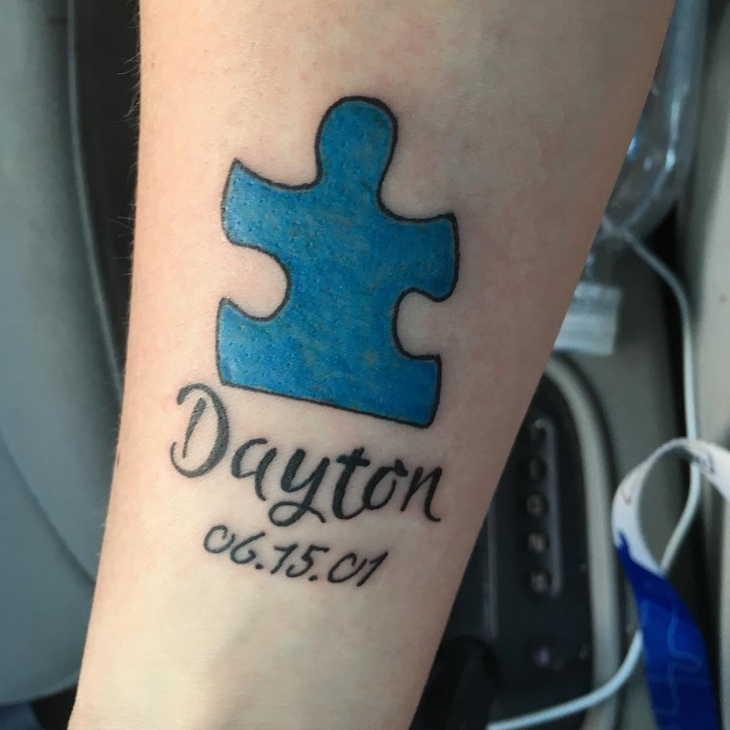 autism tattoo for men