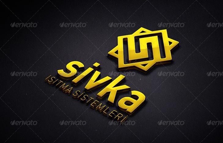 Photorealistic 3D Logo Mockups