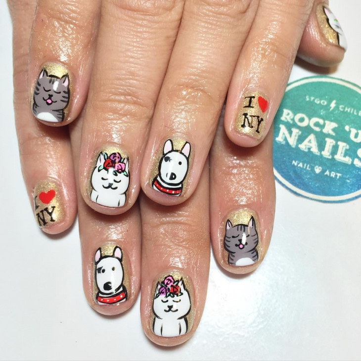 Pretty Cat Nail Art