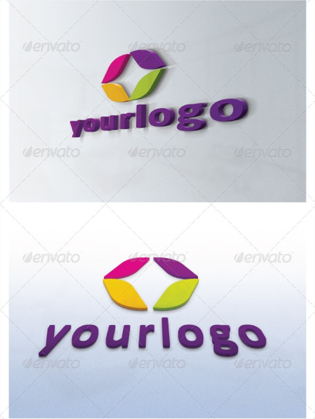 High Resolution 3D Logo Mockups