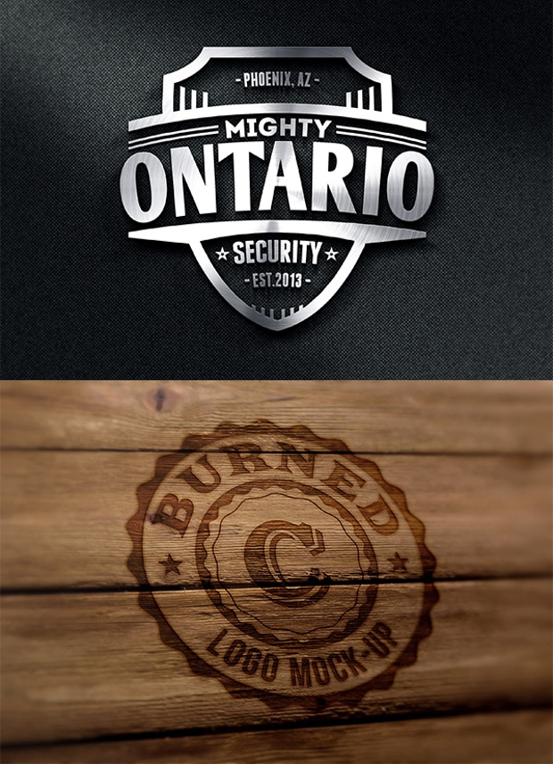 Smart Photorealistic Logo MockUps