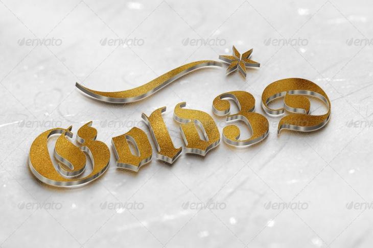 3D Logo Mockup in 9 Styles
