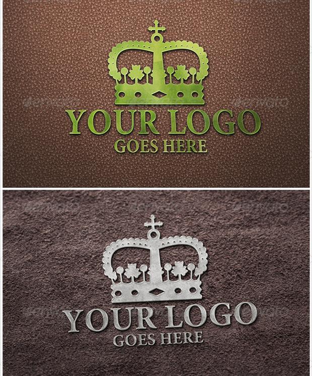 Queen 3D Logo Mockups