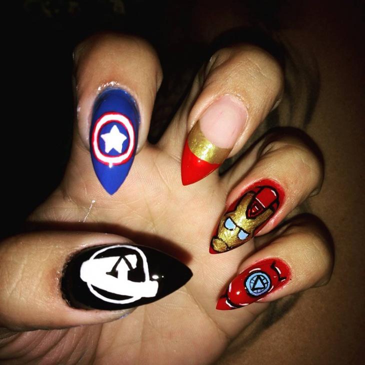 Avenger Nail Art