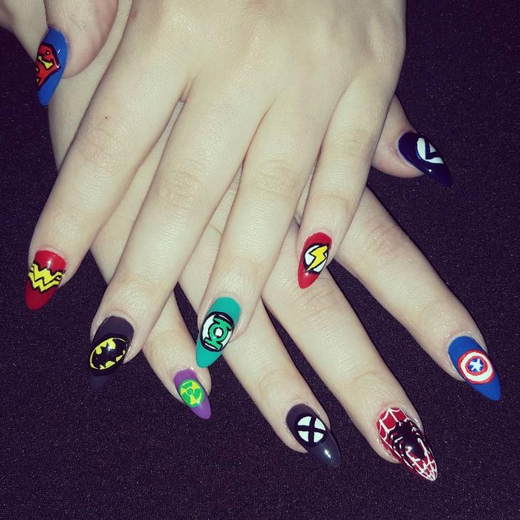 Comic Avengers Nail Art