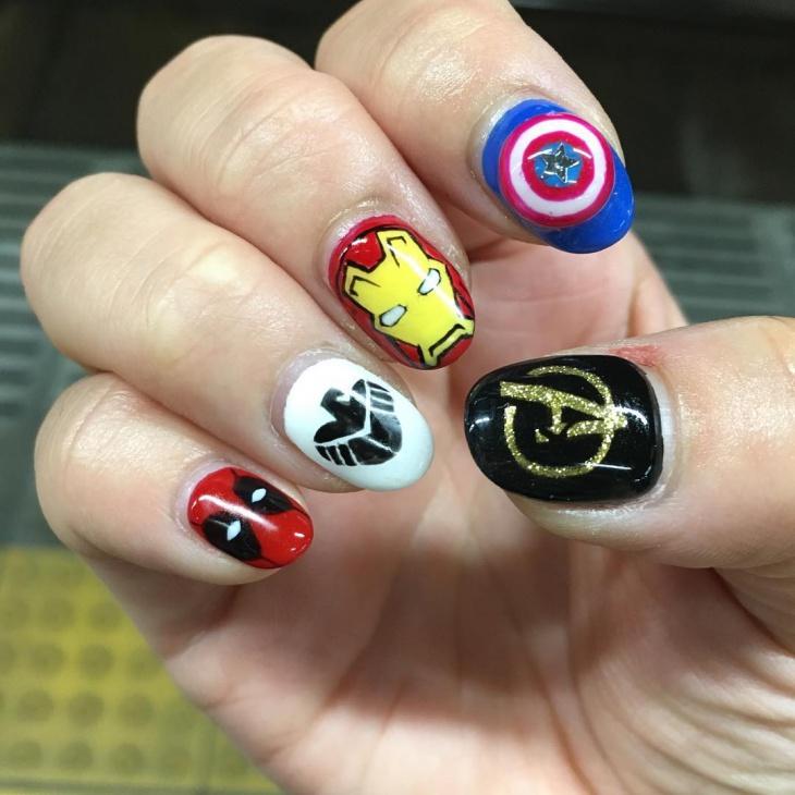 20+ Avengers Nail Art Designs, Ideas | Design Trends - Premium PSD ...