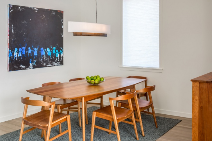 small scandinavian dining room