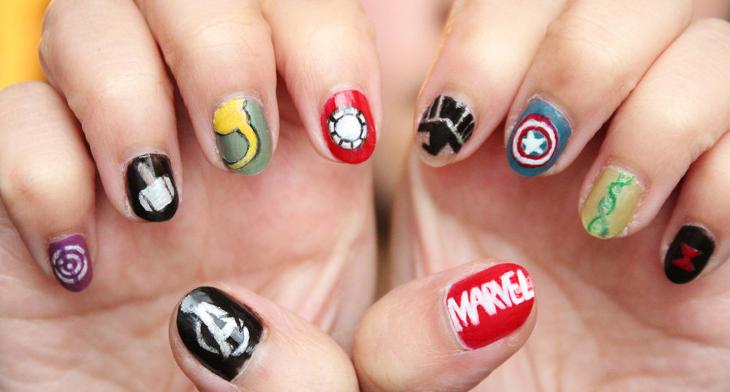 20 Avengers Nail Art Designs Ideas Design Trends Premium Psd Vector Downloads