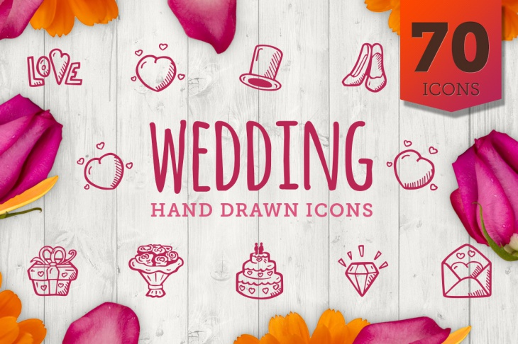 Wedding Hand Drawn Icons