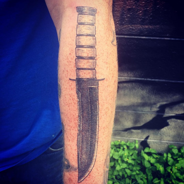 Realistic Knife In The Heart Drawing: 20+ Military Tattoo Designs,Ideas