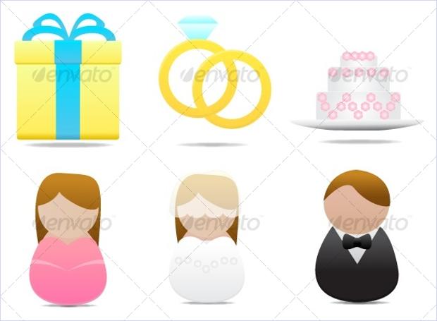 Wedding Style Icon Set