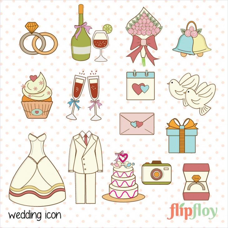 Decoration Doodle Wedding Icon