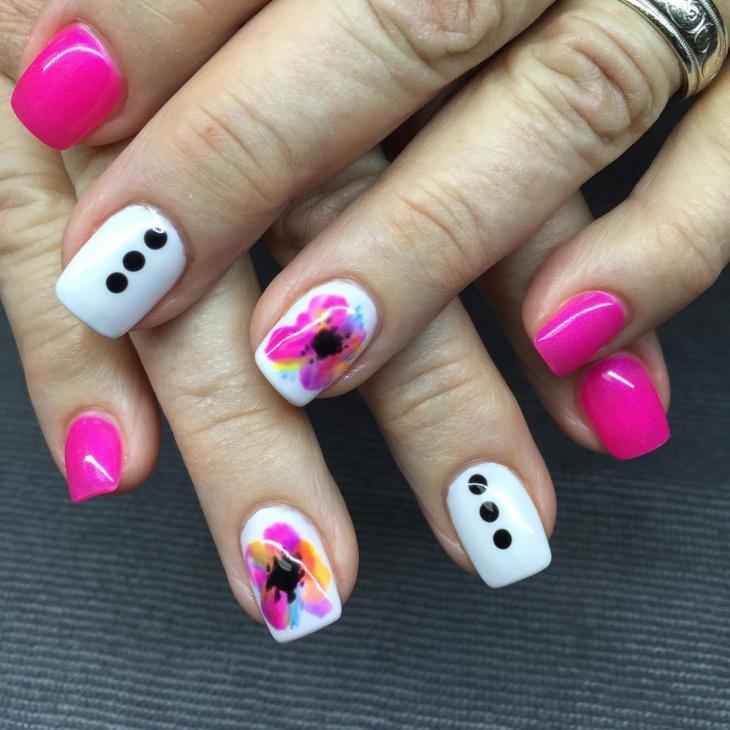 watercolor spring nail art