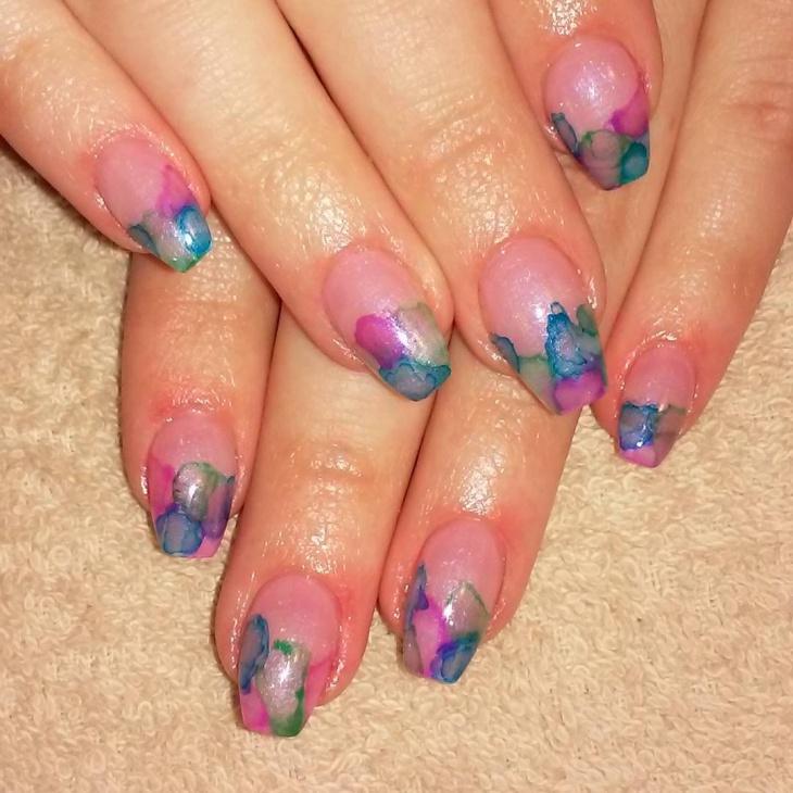 Jelly Watercolor Nail Art