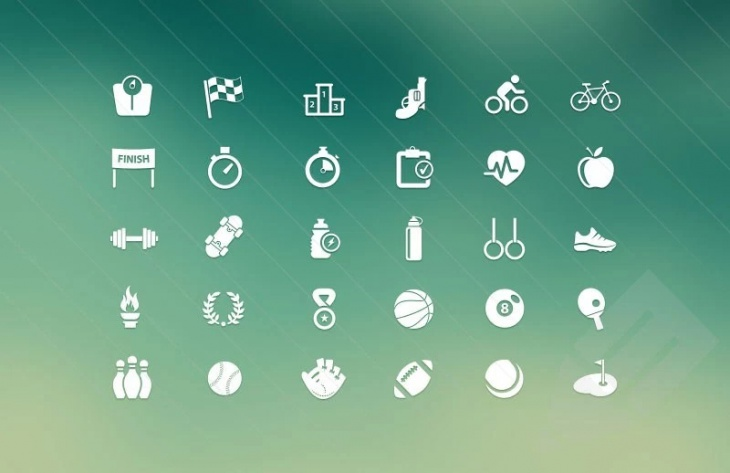 Sport and Fitness Vector Icons