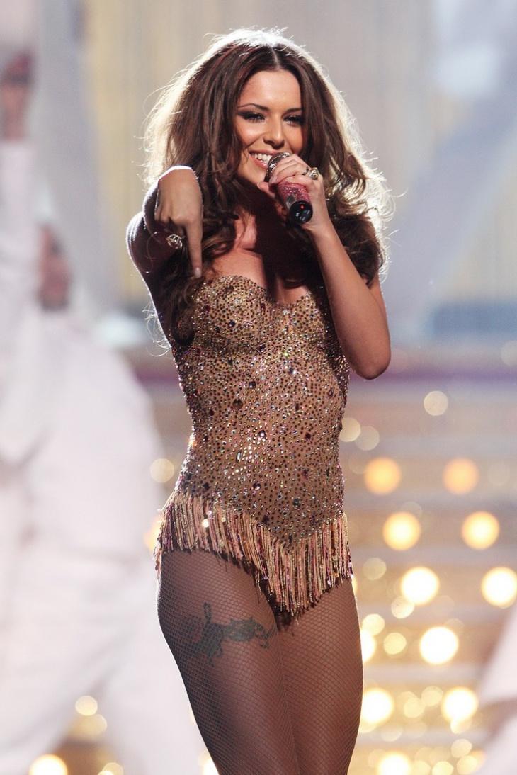 Cheryl Cole Thigh Tattoo