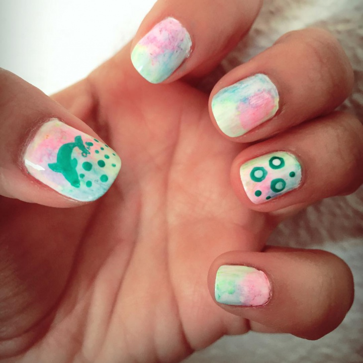 21+ Watercolor Nail Art Designs, Ideas | Design Trends ...