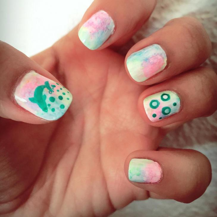 Lovely Dolphin Nail Art