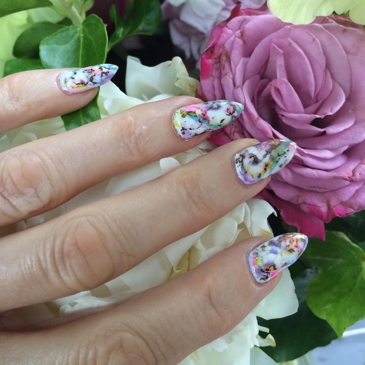 pretty nail design for long nails