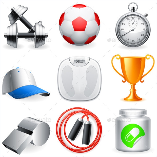 Fully Editable Fitness Icons