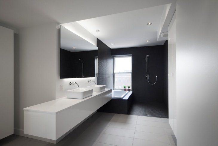 Black and White Penthouse Bathroom