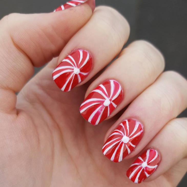 21 festive nail art designs ideas design trends premium psd candy cane nail design prinsesfo Choice Image