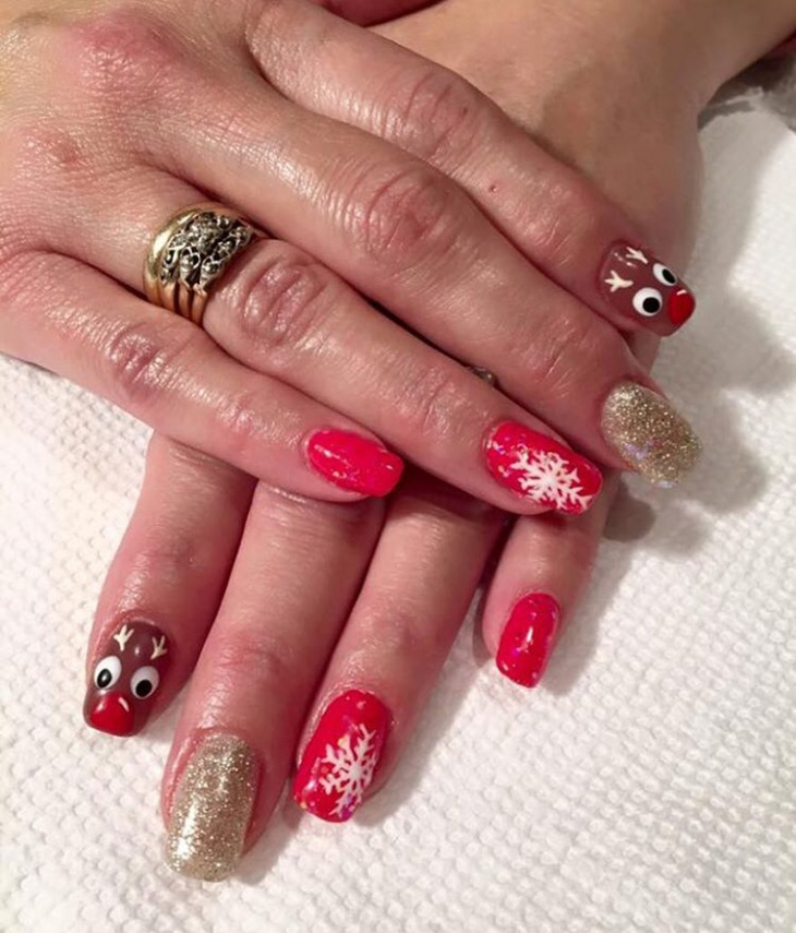 21+ Festive Nail Art Designs, Ideas