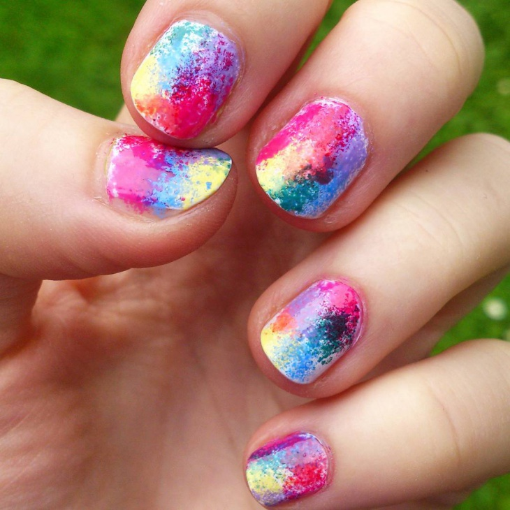 21+ Sponge Nail Art Designs, Ideas