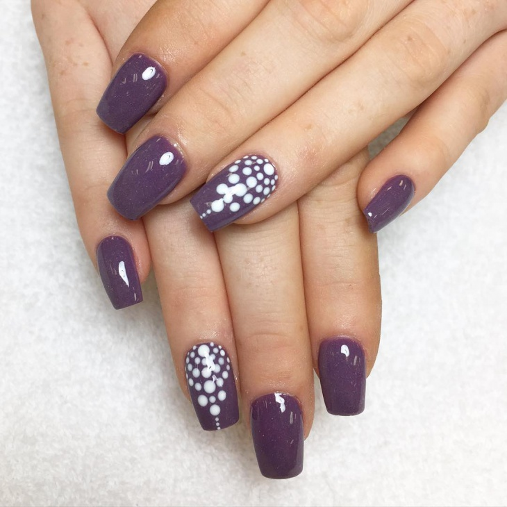 Deep Purple Nail Design