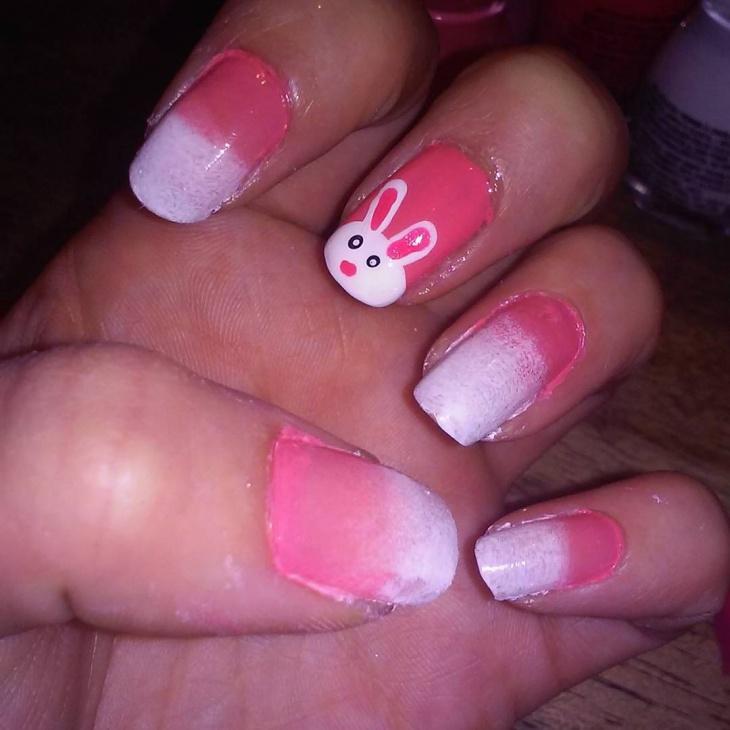 cute easter nail art design