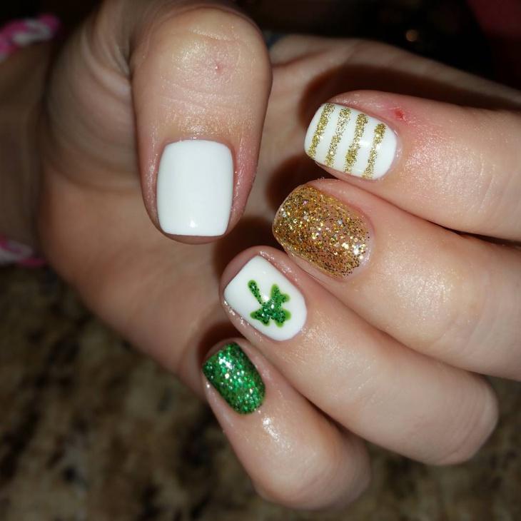 gold spring nail design1