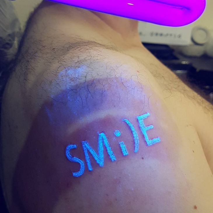 Smile UV Tattoo Idea