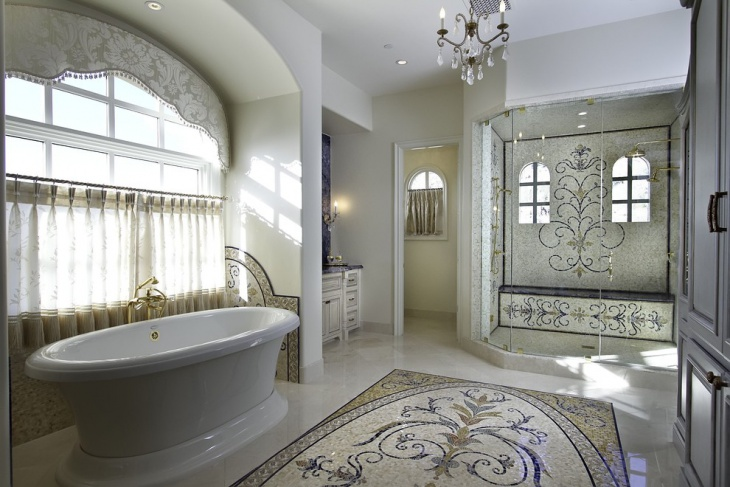 excellent white morrocan bathroom