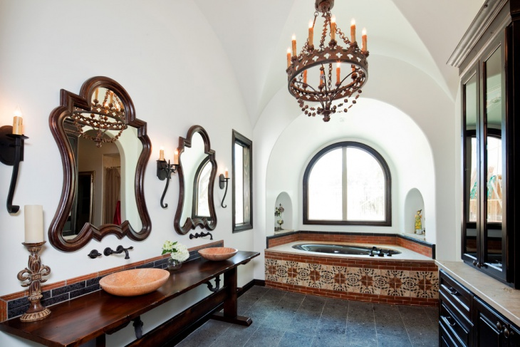 royal bathroom in moroccan design