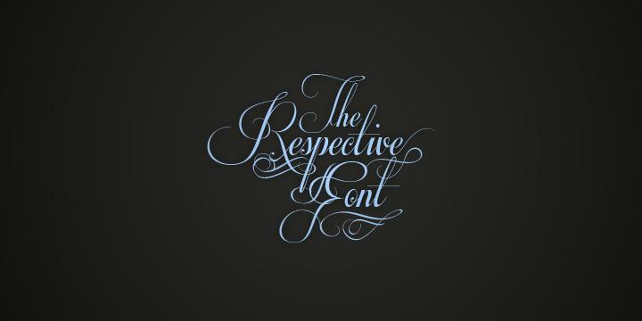 Decorative Fancy Cursive Font