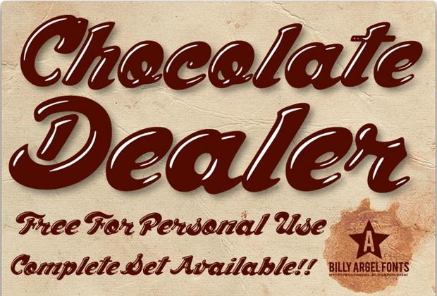 chocolate dealer font1